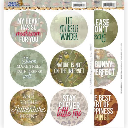 Text Designs - Amy Design  Forest Animals (EN)