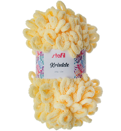 Krinkle Yarn, Light Yellow