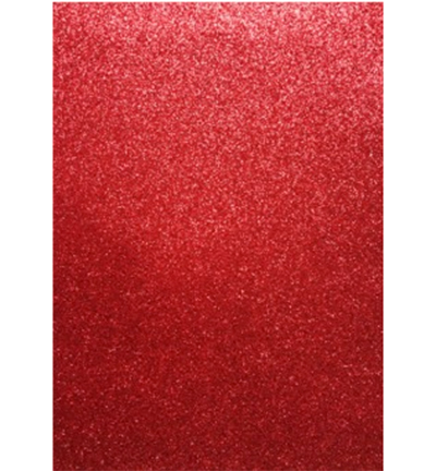 Glitter Foam Sheets Red