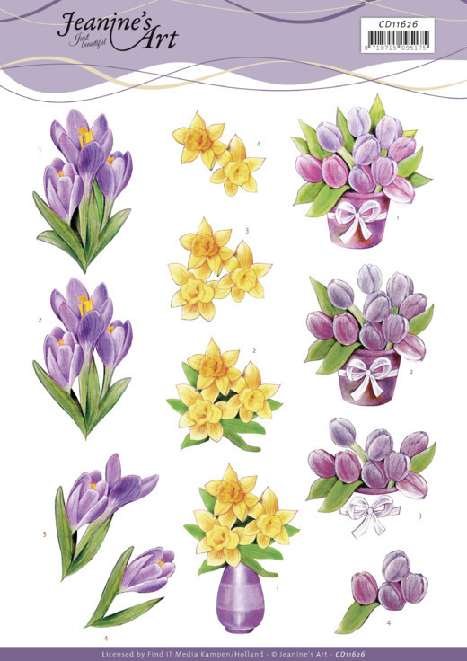 3D Cutting Sheet - Jeanine's Art - Spring Flowers