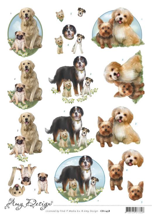 3D Cutting Sheet -Amy Design - Dogs