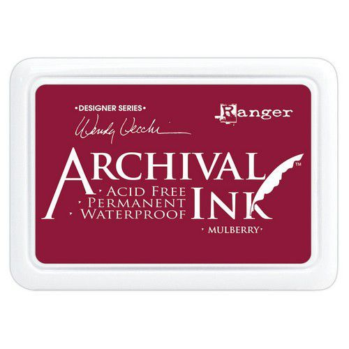Ranger Archival Ink pad - Mulberry AID73994 Wendy Vecchi (03-21)