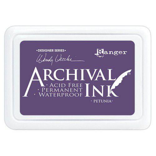 Ranger Archival Ink pad - Petunia AID74021 Wendy Vecchi (03-21)