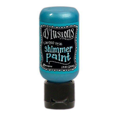 Ranger Dylusions Shimmer Paint Flip Cap Bottle - Calypso Teal DYU74380 (03-21)
