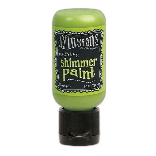 Ranger Dylusions Shimmer Paint Flip Cap Bottle - Fresh Lime DYU74410 (03-21)