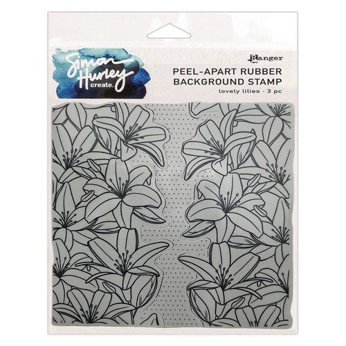 Ranger SH Cling Rubber Background Stamp 6x6 Lovely Lilies HUR75479 Simon Hurley (03-21)