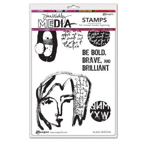 Ranger Dina Wakley Media Stamps Be Bold MDR74786 Dina Wakley (03-21)