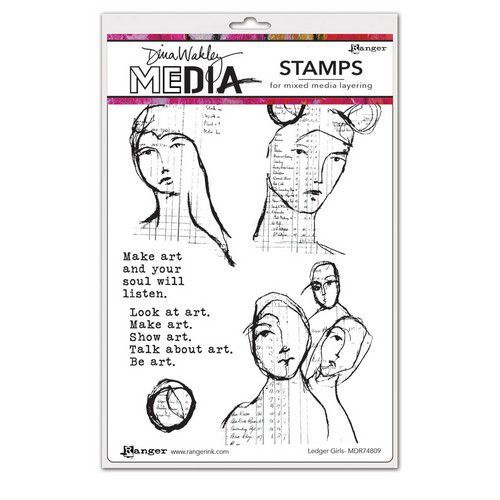 Ranger Dina Wakley Media Stamps Ledger Girls MDR74809 Dina Wakley (03-21)