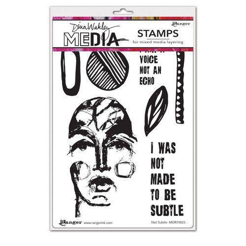 Ranger Dina Wakley Media Stamps Not Subtle MDR74823 Dina Wakley (03-21)