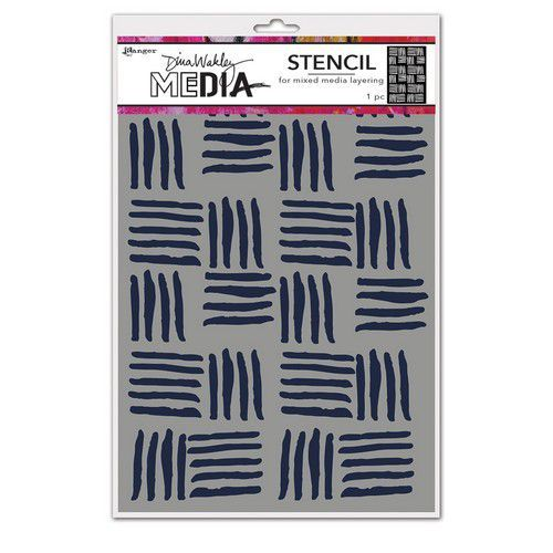 Ranger Dina Wakley Media Stencils Cross Hatch MDS74854 Dina Wakley (03-21)