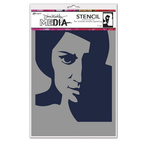 Ranger Dina Wakley Media Stencils Pensive Face MDS74861 Dina Wakley (03-21)