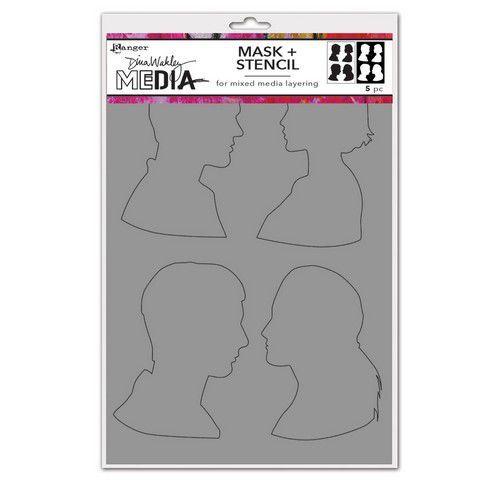 Ranger Dina Wakley Media Stencils Profiles MDS74885 Dina Wakley (03-21)