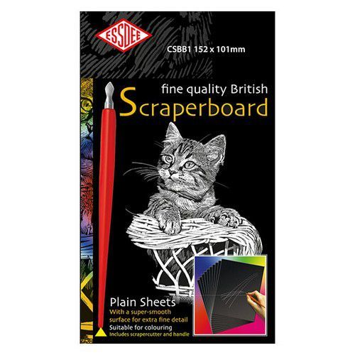 Essdee Fine quality scraperboard zwart 5 vel 152x101mm CSBB1-5