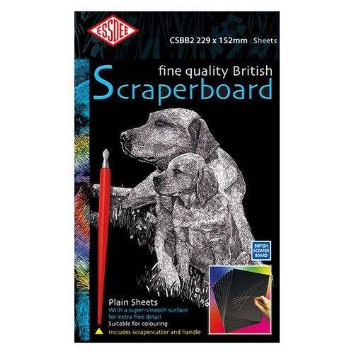 Essdee Fine quality scraperboard zwart 5 vel 229x152mm CSBB2-5