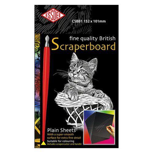 Essdee Fine quality scraperboard wit 5 vel 152x101mm CSBW1-5