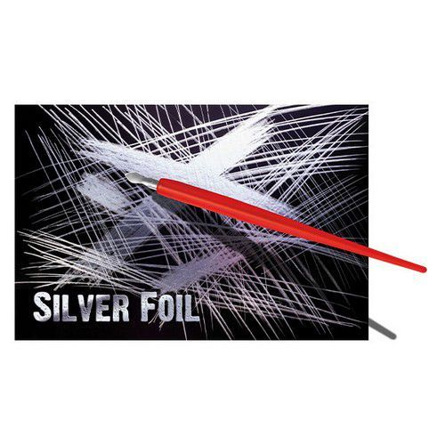 Essdee scraperboard zilver - 10 vel 229x152mm SFB2