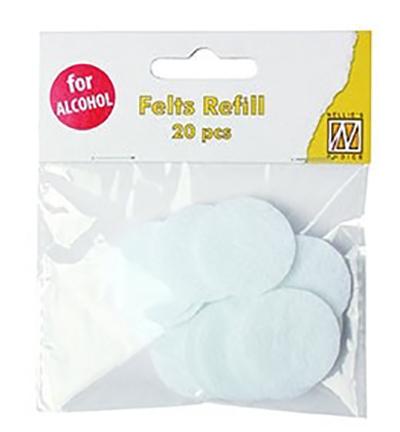 Refill felts round for IAP006 (20 pcs/polybag)