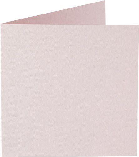 Papicolor Dub. kaart vierk. 13,2cm lichtroze 200gr-CV 6 st 310923 - 132x132 mm