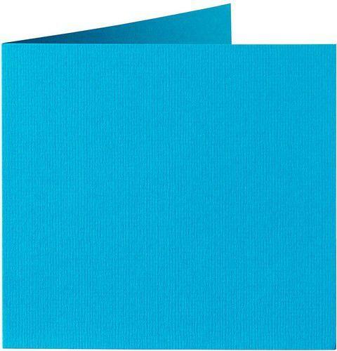 Papicolor Dub. kaart vierk. 13,2cm korenblauw 200gr-CV 6 st 310965 - 132x132 mm