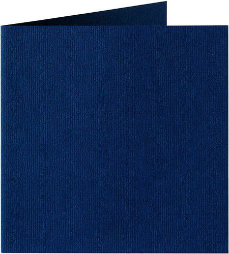 Papicolor Dub. kaart vierk. 13,2cm marineblauw 200gr-CV 6 st 310969 - 132x132 mm