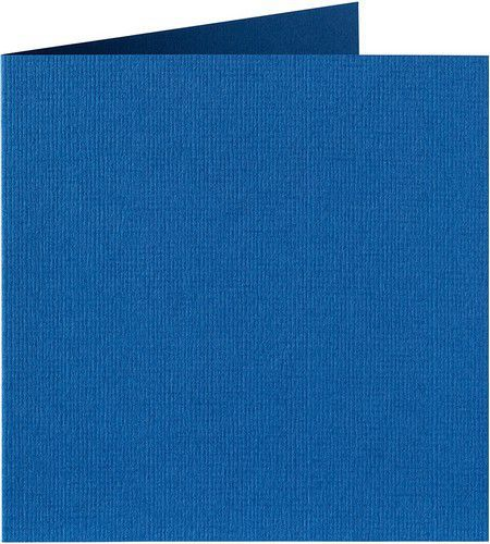 Papicolor Dub. kaart vierk. 13,2cm royal blauw 200gr-CV 6 st 310972 - 132x132 mm