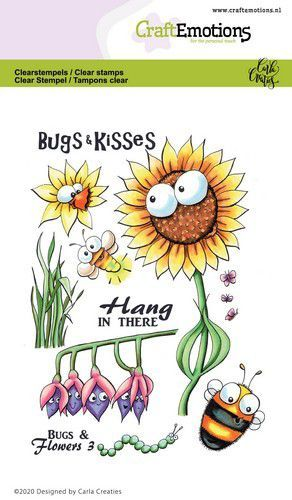 CraftEmotions clearstamps A6 - Bugs & flowers 3 Carla Creaties (03-21)
