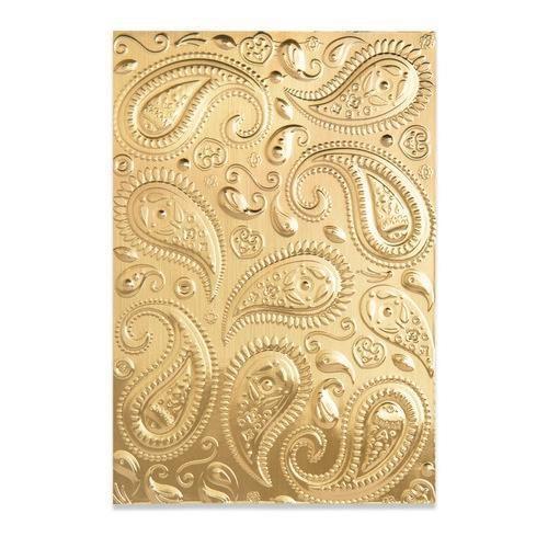 Sizzix 3-D Textured Impressions Embossing Folder - Paisley 664796 Georgie Evans (04-21)