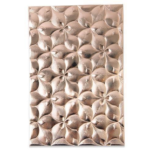 Sizzix 3-D Textured Impressions Embossing Folder - Organic Petals 664998 Kath Breen (04-21)