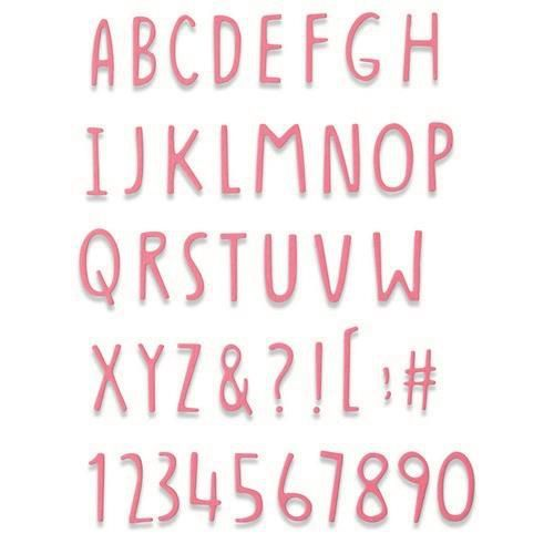 Sizzix Thinlits Die - Hand Drawn Alphabet 665182 Jenna Rushforth (04-21)