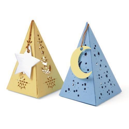 Sizzix Thinlits Die Set -Celestial Favor Box 7PK 665184 Lisa Jones (04-21)