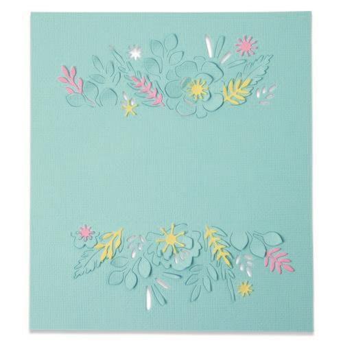 Sizzix Thinlits Die Set - Floral Borders 4PK 665186 Olivia Rose (04-21)