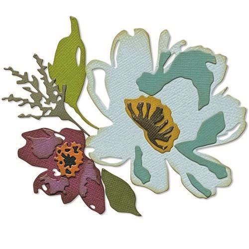 Sizzix Thinlits Die Set - Brushstroke Flowers #3 5PK 665360 Tim Holtz (04-21)