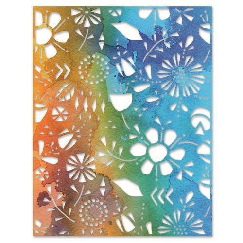 Sizzix Thinlits Die - Folk Flowers 665363 Tim Holtz (04-21)