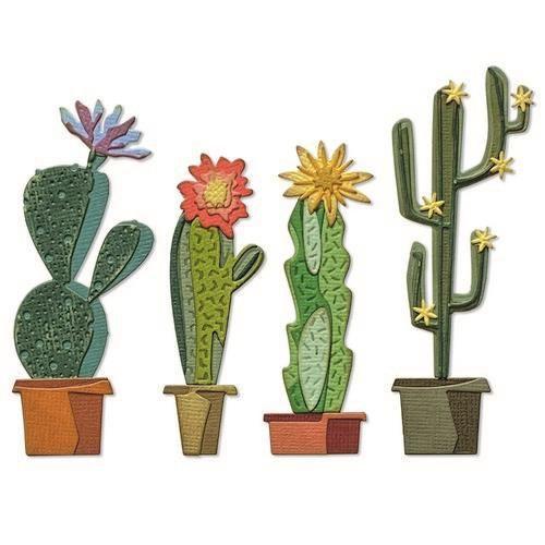 Sizzix Thinlits Die Set - Funky Cactus 9PK 665365 Tim Holtz (04-21)