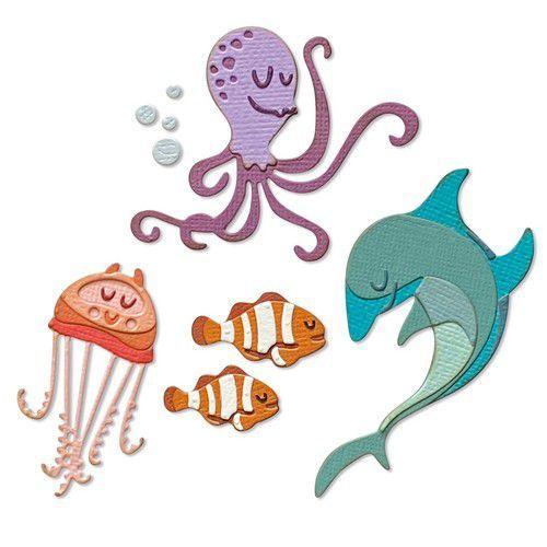 Sizzix Thinlits Die Set - Under the Sea #1 Colorize 22PK 665377 Tim Holtz (03-21)