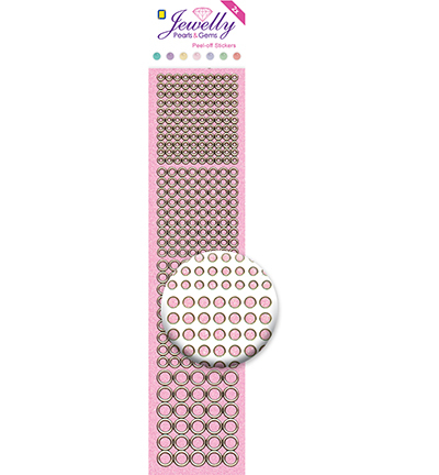 Dots, Glitter Transparant Pink