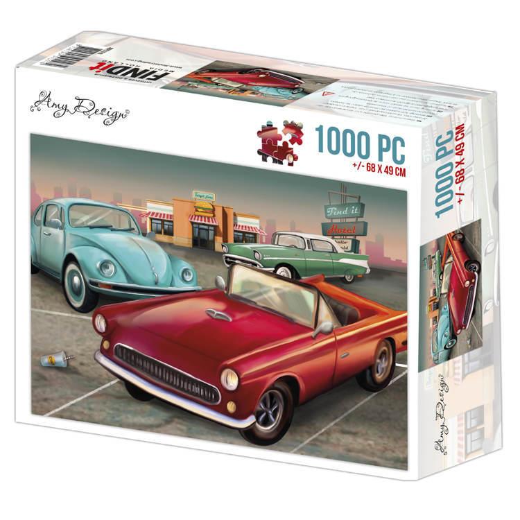 Jigsaw puzzel 1000 pc - Amy Design -Vintage Cars