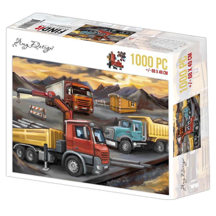 Jigsaw puzzel 1000 pc - Amy Design -Lorries