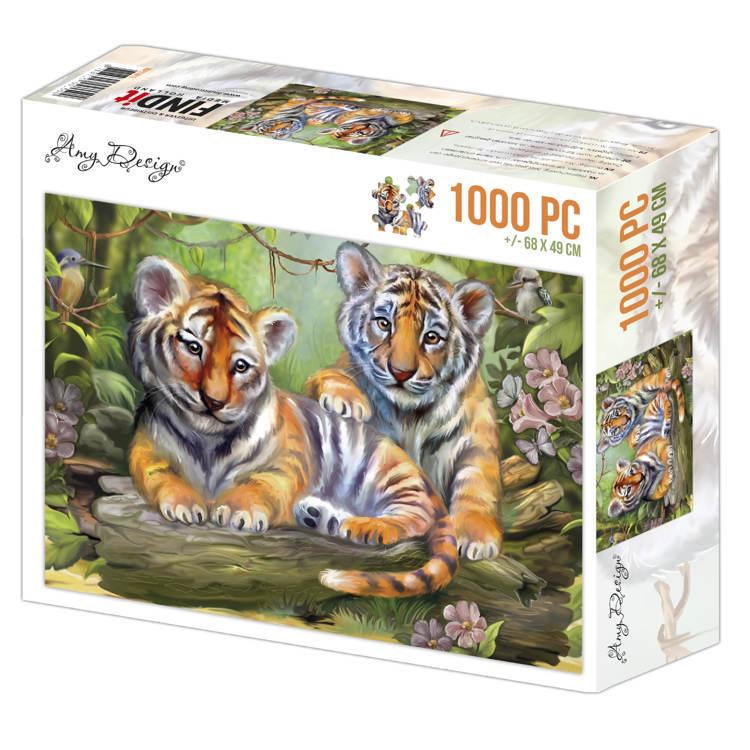 Jigsaw puzzel 1000 pc - Amy Design -Tigers