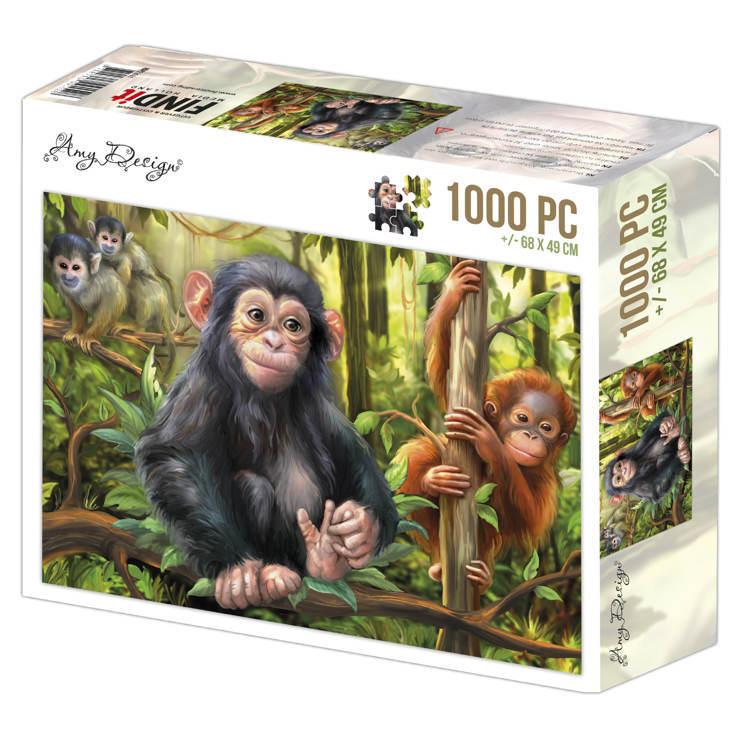 Jigsaw puzzel 1000 pc - Amy Design -Monkeys