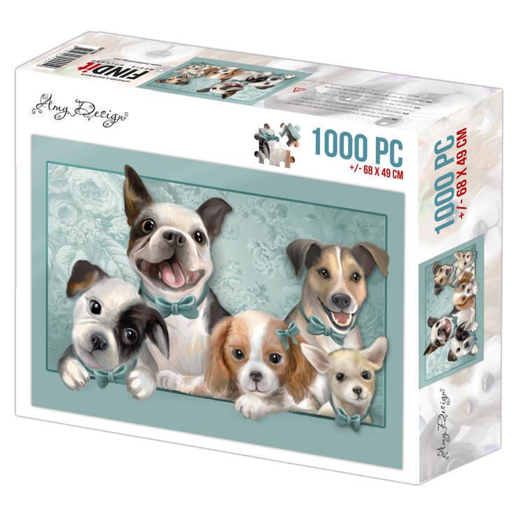 Jigsaw puzzel 1000 pc - Amy Design -Dogs