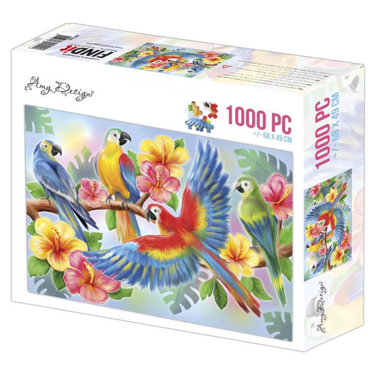 Jigsaw puzzel 1000 pc - Amy Design -Parrots