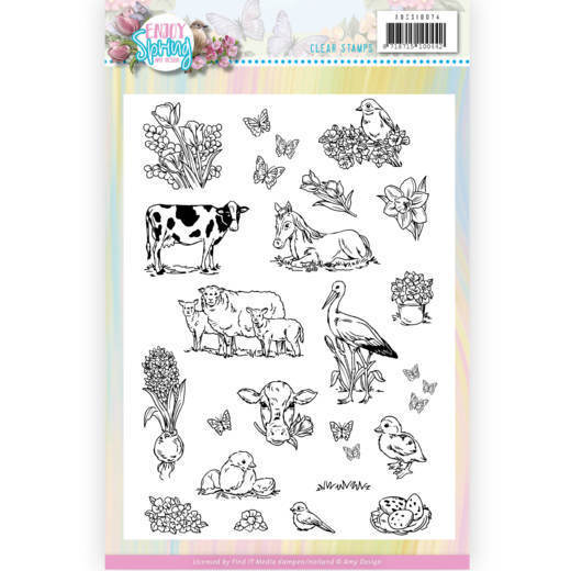 Clear Stamps - Amy Design - Enjoy Spring