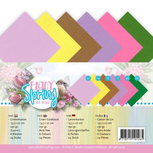 Linen Cardstock Pack - 4K - Amy Design - Enjoy Spring