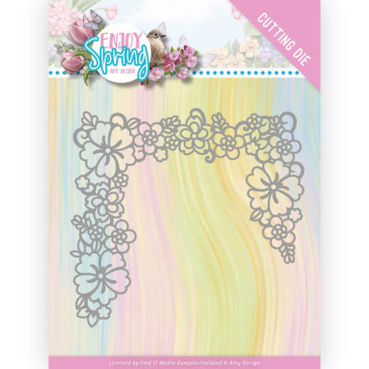 Dies -Amy Design - Enjoy Spring - Flower Edge