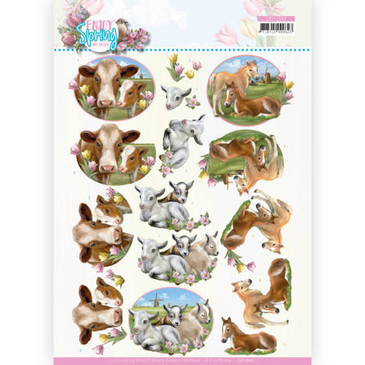 3D Cutting Sheet - Amy Design - Enjoy Spring - Farm Animals