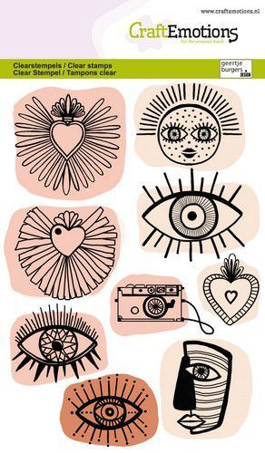CraftEmotions clearstamps A6 - Trendy iconen GB (03-21)