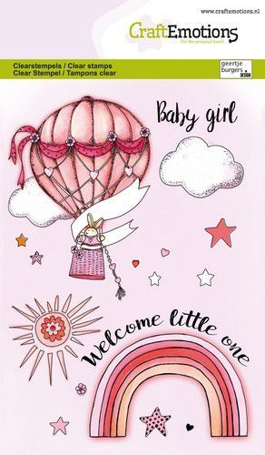 CraftEmotions clearstamps A6 - Babygirl (ENG) GB (03-21)