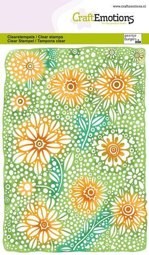 CraftEmotions clearstamps A6 - Bloemenachtergrond GB (03-21)