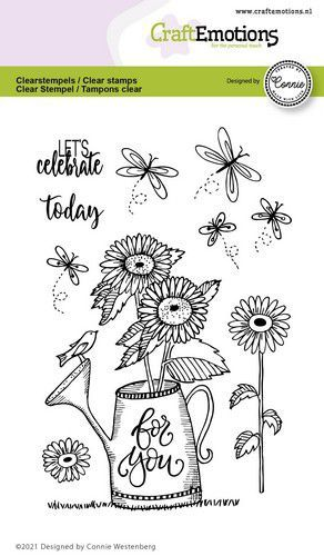 CraftEmotions clearstamps A6 - gieter - For you Connie Westenberg (3-21)